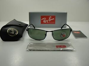 2ea0fa4cffb RAY-BAN POLARIZED SUNGLASSES RB3498 002 9A BLACK FRAME GREEN CLASSIC ...