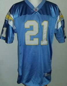 separation shoes 48d7f e9b86 Details about Ladainian Tomlinson Powder Blue San Diego Chargers Jersey  Reebok Size 52 or XL