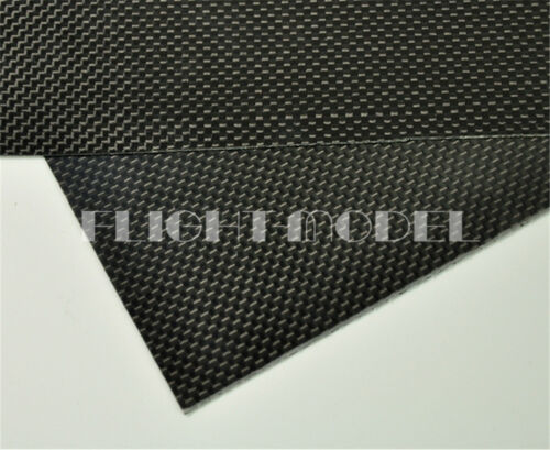 400mmX500mmX0.3mm 100/% Carbon Fiber plate panel sheet 3K plain Weave Glossy