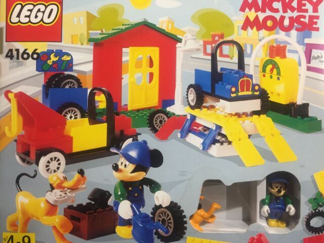 LEGO Mickey Mouse Mickeys Car Garage 4166 Open Box Sealed Bags Complete Rare
