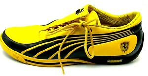 Men-039-s-Puma-SL-Street-Scuderia-Ferrari-Shoes-Yellow-Size-11-5-EU-45-Rare