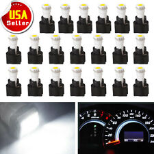 20x White 73 74 T5 Twist Instrument Panel Dash Light LED Bulb PC74 Socket Kit US