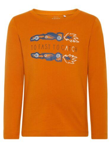 NAME IT Jungen Langarmshirt NMMVictor orange Race Größe 92 bis 122//128