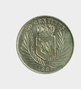 s833-44-Congo-Belga-Leopold-II-50-centimes-1887