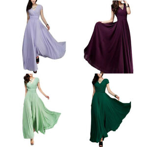 Women-Long-Formal-Evening-Prom-Bridesmaid-Dress-Chiffon-Ball-Gown-Cocktail-Dress