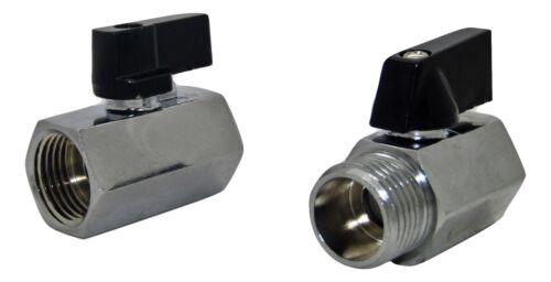 "Mini Válvula de Bola de Latón Cromado BSPP PN16 tamaño desde 1//8/"" hasta 1//2/"" Nueva FXF Envolvedor"