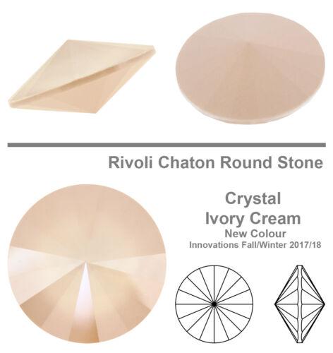 Genuine SWAROVSKI 1122 Rivoli Round Crystals Foiled Many Colors /& Sizes