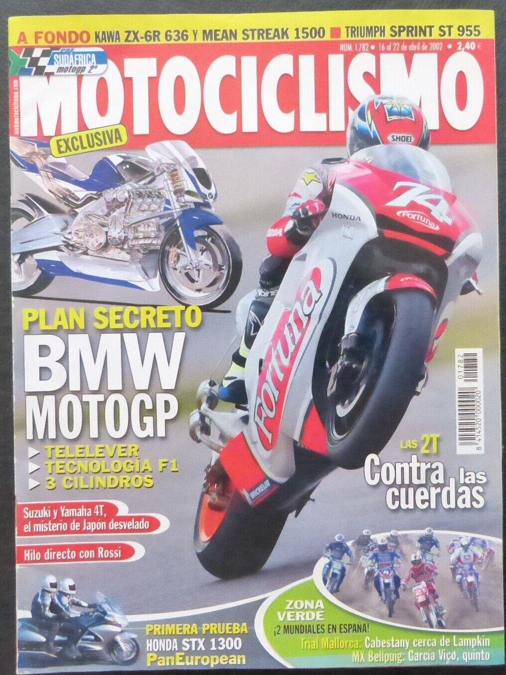 REVISTA MOTOCICLISMO,AÑO 2002,NUMERO 1782,Plan secreto,BMW Moto GP