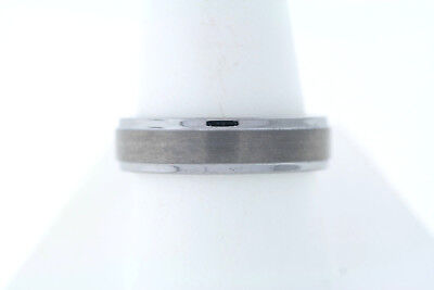 6mm Black Tungsten Satin Center Polished Grooved Edge Band Ring