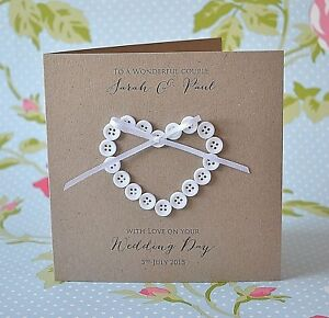 Image Is Loading Personalised Wedding Day Card Handmade Shabby Chic On