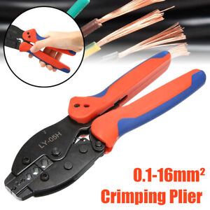 Ratchet Crimper Crimping Pliers 0.1-16mm² Tool Cable For RG58//RG59//RG62//RG140