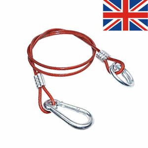 Red-PVC-Break-Away-Clip-Cable-Hook-Ring-Trailer-Safety-Towing-Brake-Horse-New