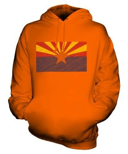 Arizona State Scribble Flag Unisex Kapuzenpulli Top Geschenk Arizonan Arizonian