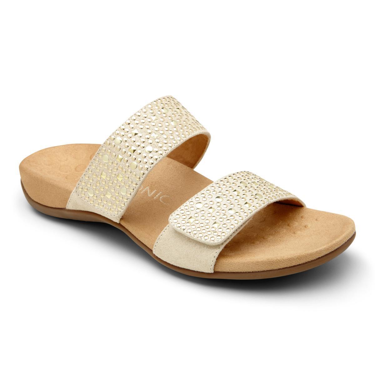 Vionic Samoa Gold Slip Sandalen Damen Größe 5-11   Neu
