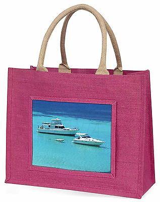Yachten in Paradise Große Rosa Einkaufstasche Weihnachten Geschenkidee, BOA-5BLP