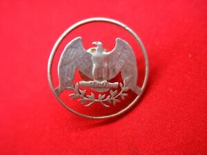 UNITED-STATES-SILVER-WASHINGTON-QUARTER-CUT-OUT-LAPEL-PIN-NICELY-DONE