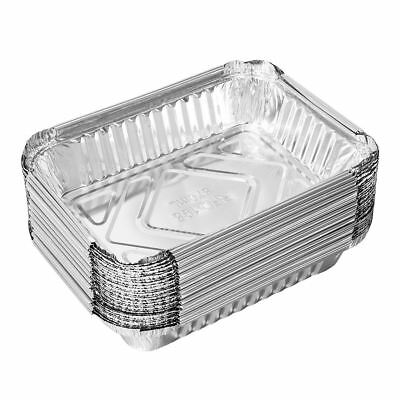 30pcs Aluminum Foil Trays Bbq Disposable Food Container
