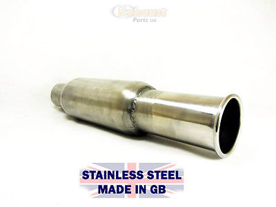 """4/"""" x 10/"""" x 2.25/"""" Bullet Bomb Silencer Stainless Exhaust Muffler Middle Back Box"""