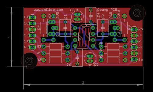 DIY PCB 5x Dual opamp experimenter PCB