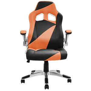 Image Is Loading PU Leather Executive Racing Style Bucket Seat Office