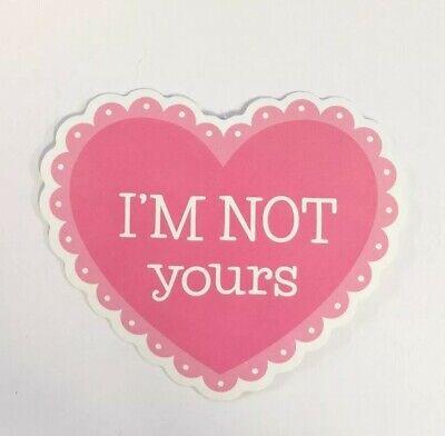 """Not Yours Feminist Girl Power Men Suck Breakup Divorce F U Guys 3"""" Sticker"""