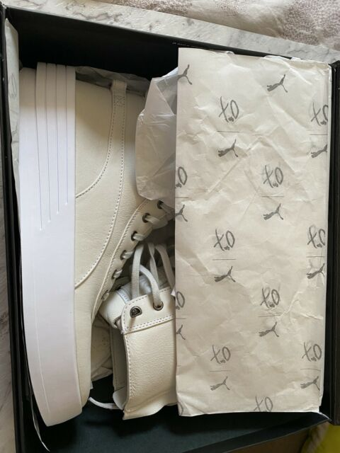 PUMA x XO Parallel x The Weeknd Collab Cream Leather High Top Sneakers Shoes