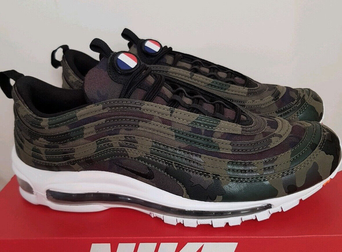 Nike Air Max 97 premium country camo france us 6,5 13 Patch