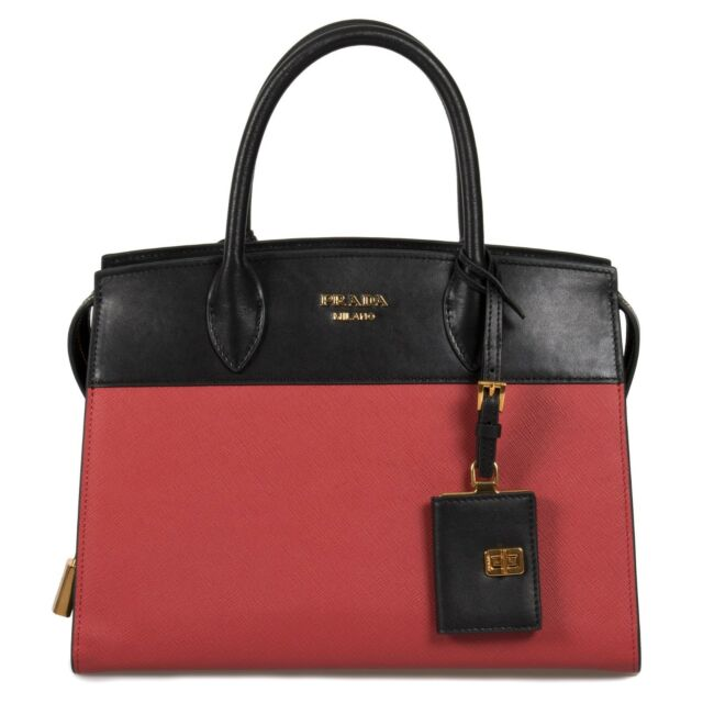 a49147a839 Frequently bought together. Prada Esplanade Leather Tote In Red and Black