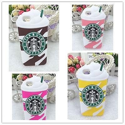 Pour iPhone 4s 5S 5C 6S+ 3D Starbucks Ice Cream café SILICONE COQUE ETUIS HOUSSE