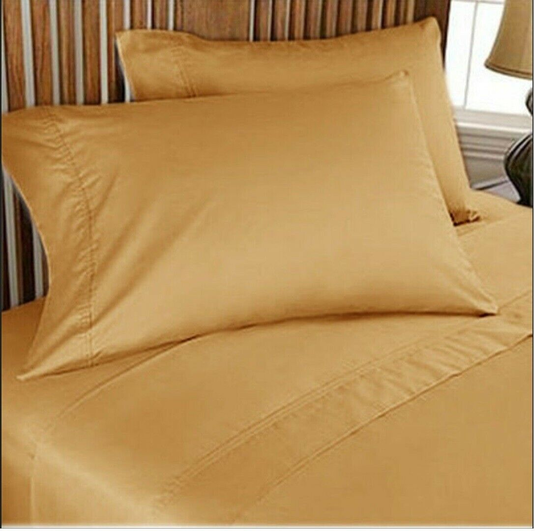 Complete Bedding Collection 1000 Count Egyptian Cotton US Dimensiones oro Solid