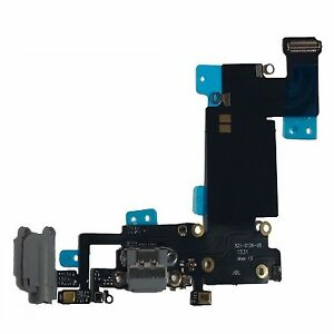 brand new 4a783 c16e8 Details about Black Headphone Dock Connector Charging USB Port Flex Cable  iPhone 6S Plus Grey