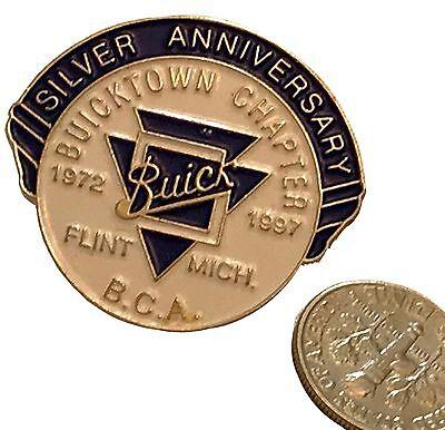 Buicktown Chapter Buick Club Pin 25th Anniversary 1997! Flint Michigan MI