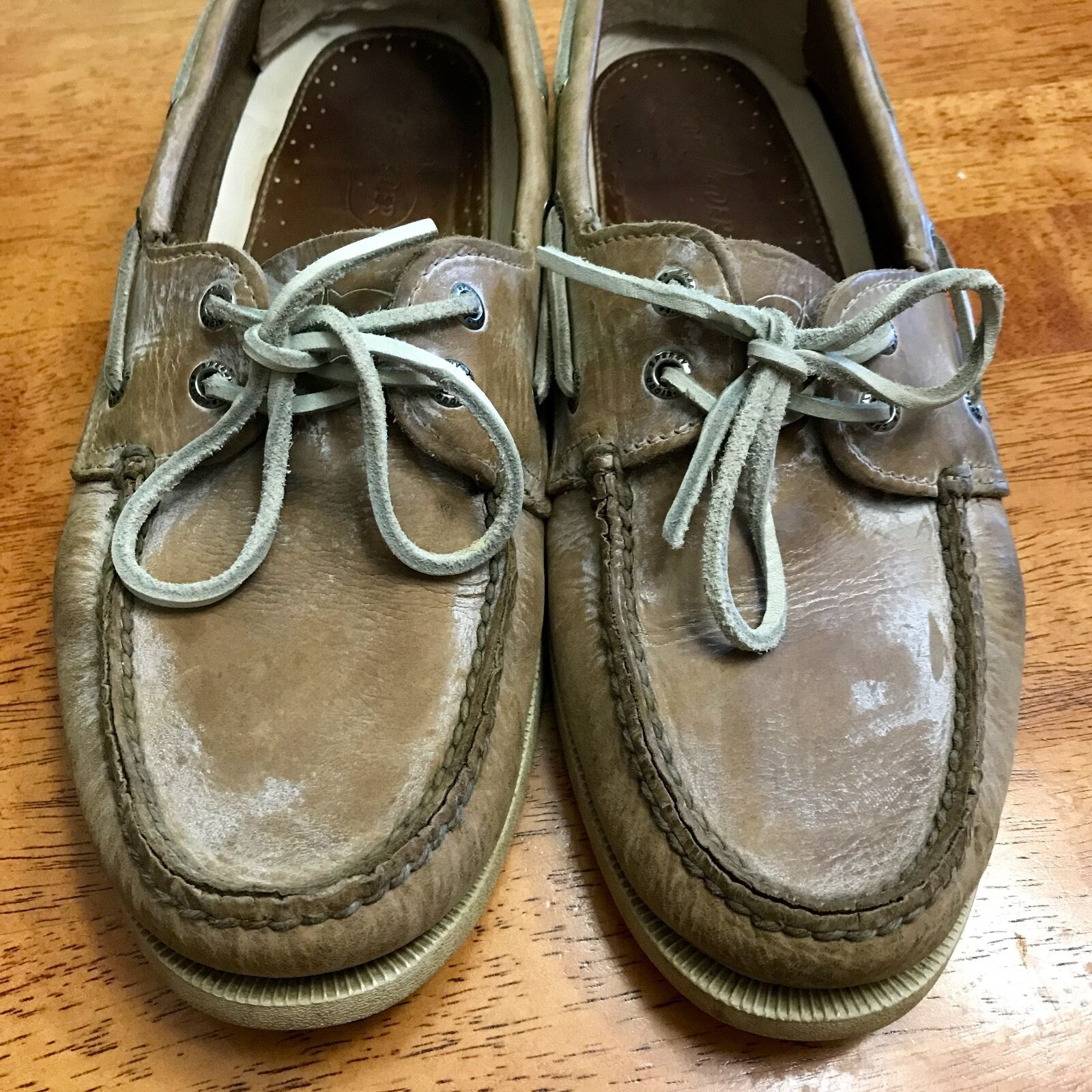 Mens Sperry Top-Sider Sun Washed Salt Washed Boat shoes - 10