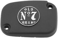 Jack Daniels Old # 7 Harley Davidson Front Master Cylinder Cover - Wrinkle Black