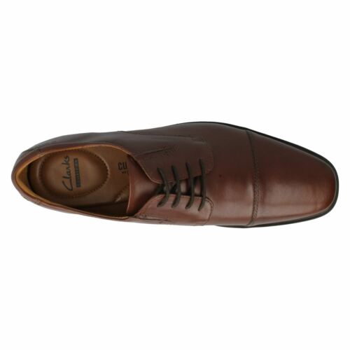Mens TILDEN CAP Brown leather lace up shoes by clarks retail £49.99