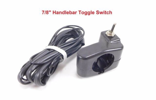 Qwik Handlebar Mounted Toggle Switch Electrical 6 12 24 Volt Kill LED Yamaha