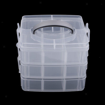 3 Layers Storage Case Jewelry Accessories Nails Craft Beads Jewelry Tool Box