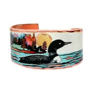 Solid-Copper-Ring-Loon-Silver-Plated-Colorful-Handmade-Jewelry-Band-Adjustable