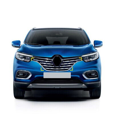 Color Name : Black Hermoso En Forma for Renault Kadjar 2019 2020 Frontal de Acero Inoxidable Rejilla Centro de moldeo Tiras de Ajuste de la Cubierta 7pcs Car Styling