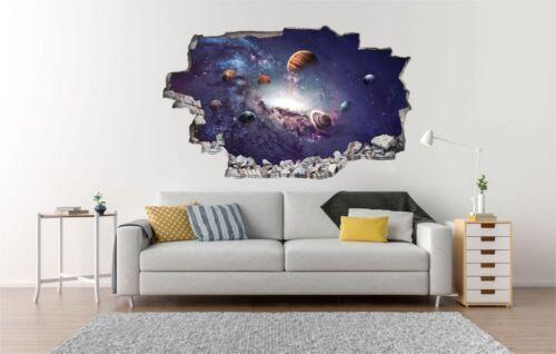 Weltall Universum Planeten Wandtattoo Wandsticker Wandaufkleber C1019