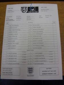 20-11-1999-Teamsheet-Reading-v-Halifax-Town-FA-Cup-minor-creasing-at-top-T