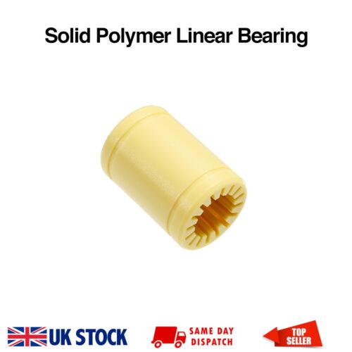 Rjmp 01-12 Cojinete Buje lineal LM12UU de polímero sólido 12x21x30mm