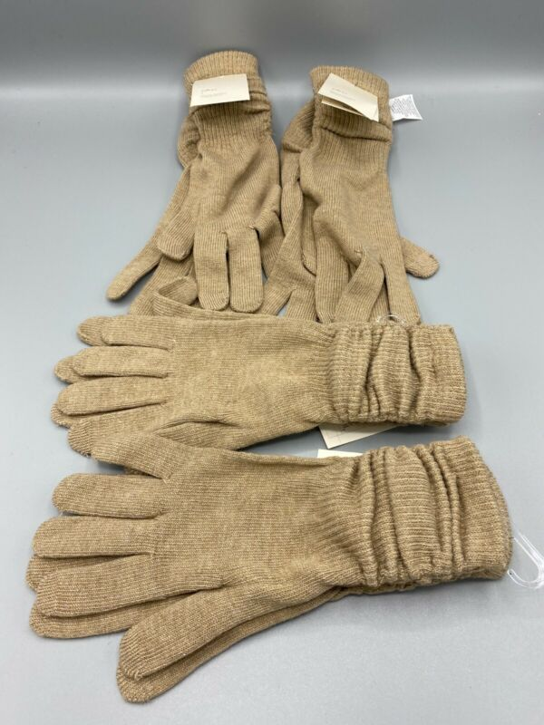 Nwt Lot Of 4 - A New Day Women's Knit 4 Camel Heather - Long Gloves One Size Utmost In Convenience
