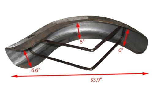 Indian Chief Scout 101 Front Mudguard Fender 1936-39 Rigid Frame Raw Steel S2u