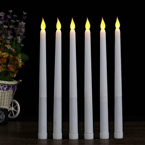 GiveU Flameless Plastic Led Candle with Timer Battery Operated Pillar Candle fo