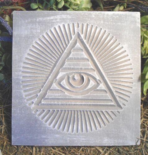 Pyramid plaque mold plaster concrete mould