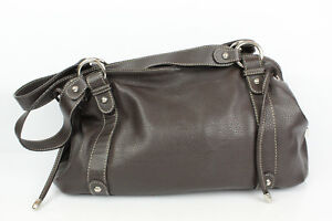 4df5a5f3b66 Image is loading Bag-Worn-Shoulder-HEXAGONA-Leather-Synthetic-Brown-GOOD-