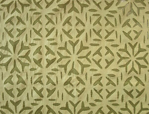 """Artisan Hand-Appliqued 84"""" Curtain Panel Green Cotton With All-Over Design Decor"""