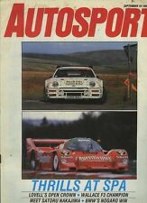 Autosport September 18th 1986 *Spa 1000 Km & Manx Rally & Nogaro F2*
