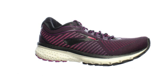 Brooks Womens Ghost 12 Black Black Hollyhock Pink 063 Running Shoes Size 9